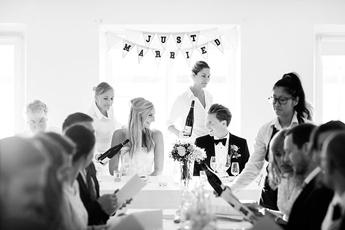 Bröllopsmiddag på Ekensdal i Stockholm
