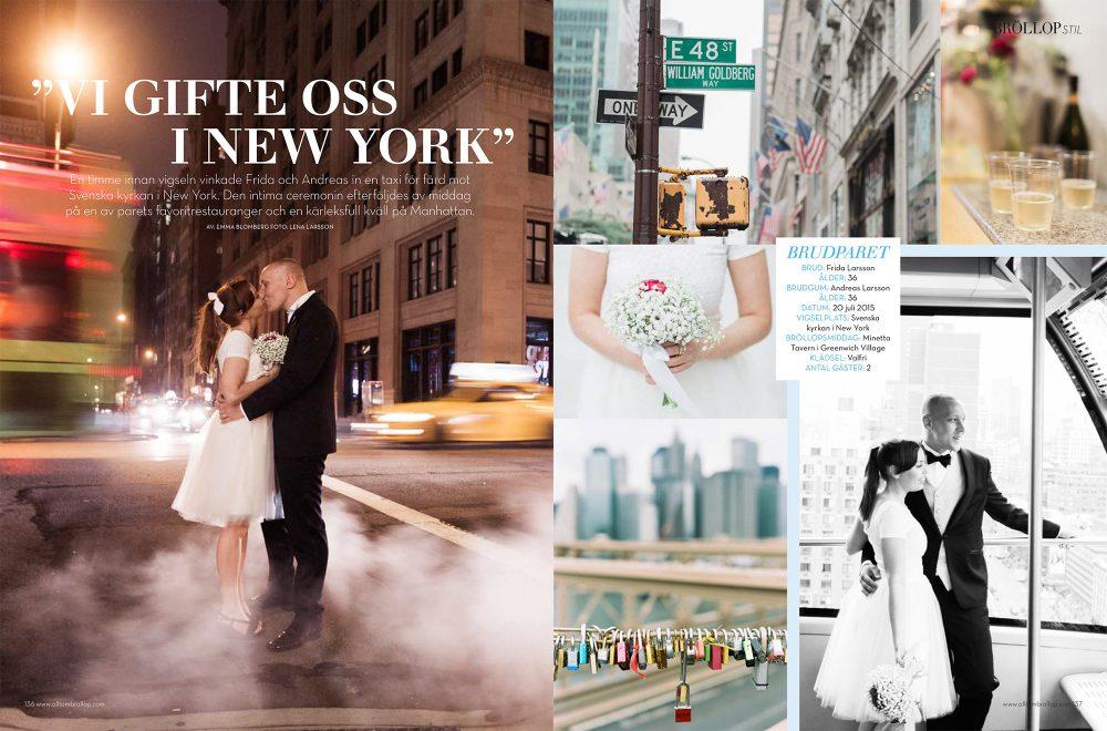 Swedish bridal magazine spread