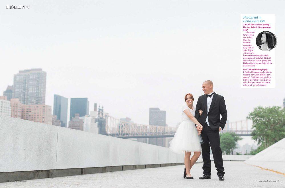 Brudpar pa Roosevelt Island i Nwe York