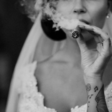 tatooed-bride-smoking-a-cigarr