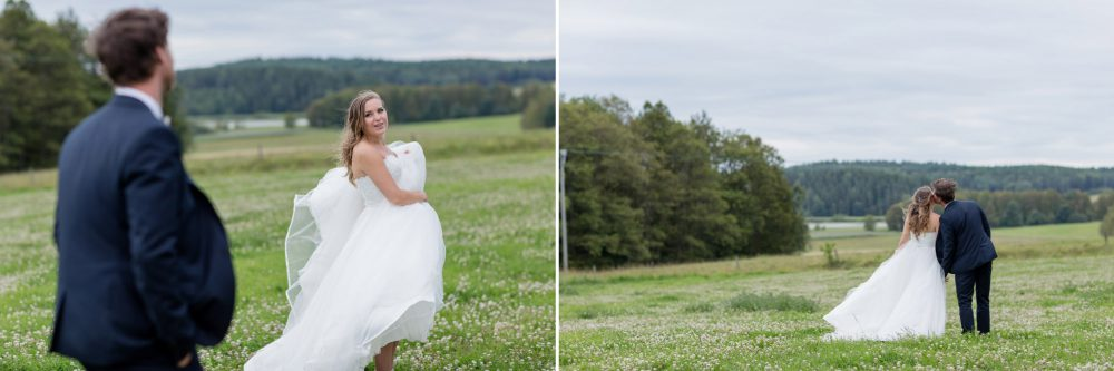 wedding portraits on a cloudy day in sweden