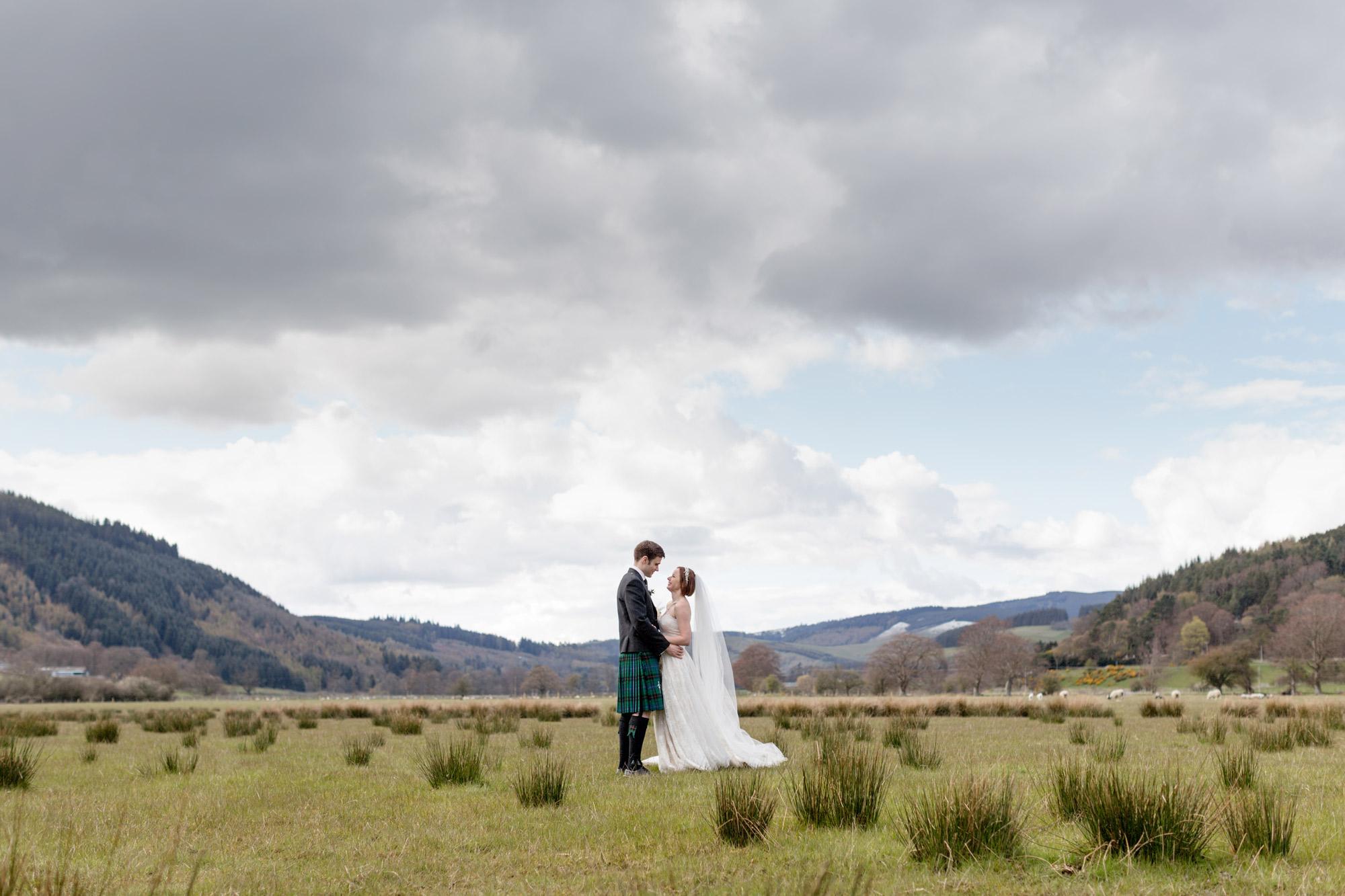 wedding in innerleithen scottish borders