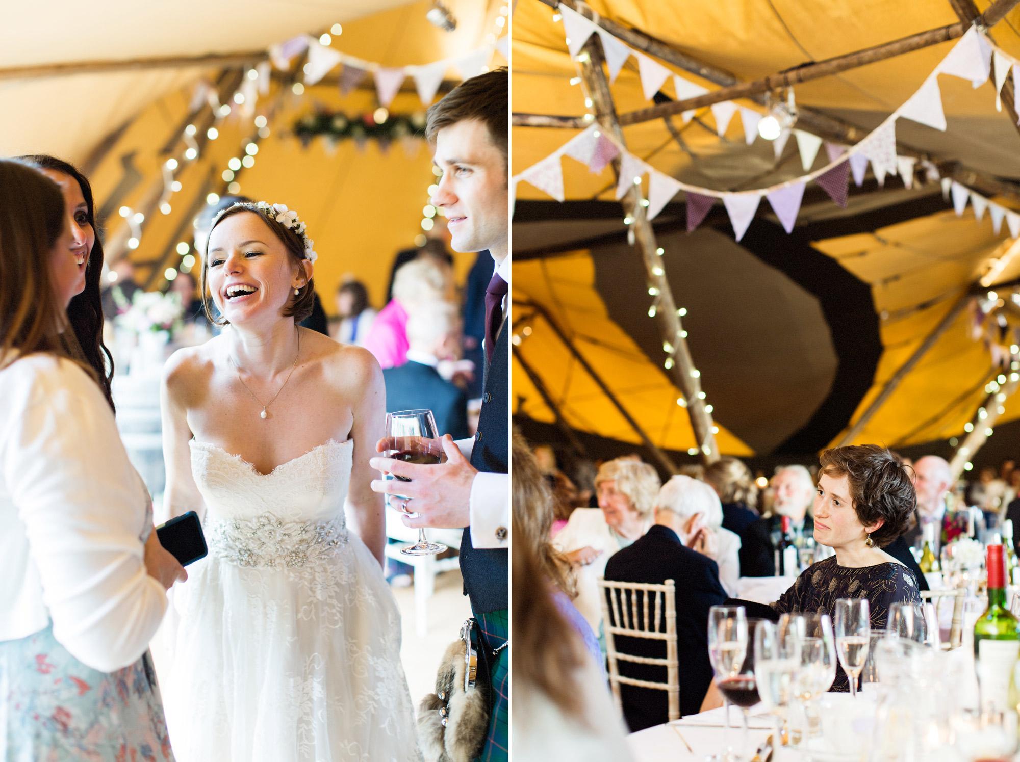 teepee wedding atmosphere