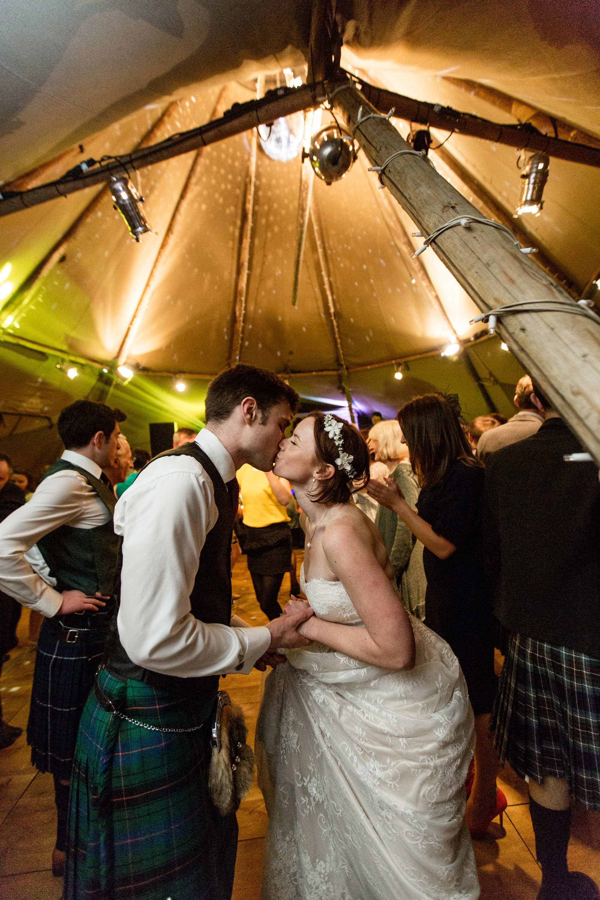 wedding dance at rustic wedding, Scotland