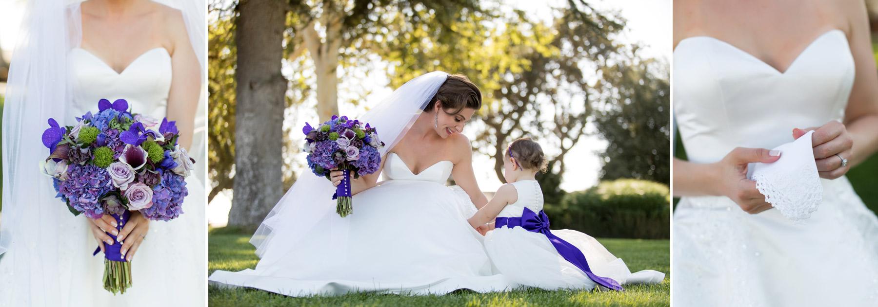 Purple bouqet california wedding