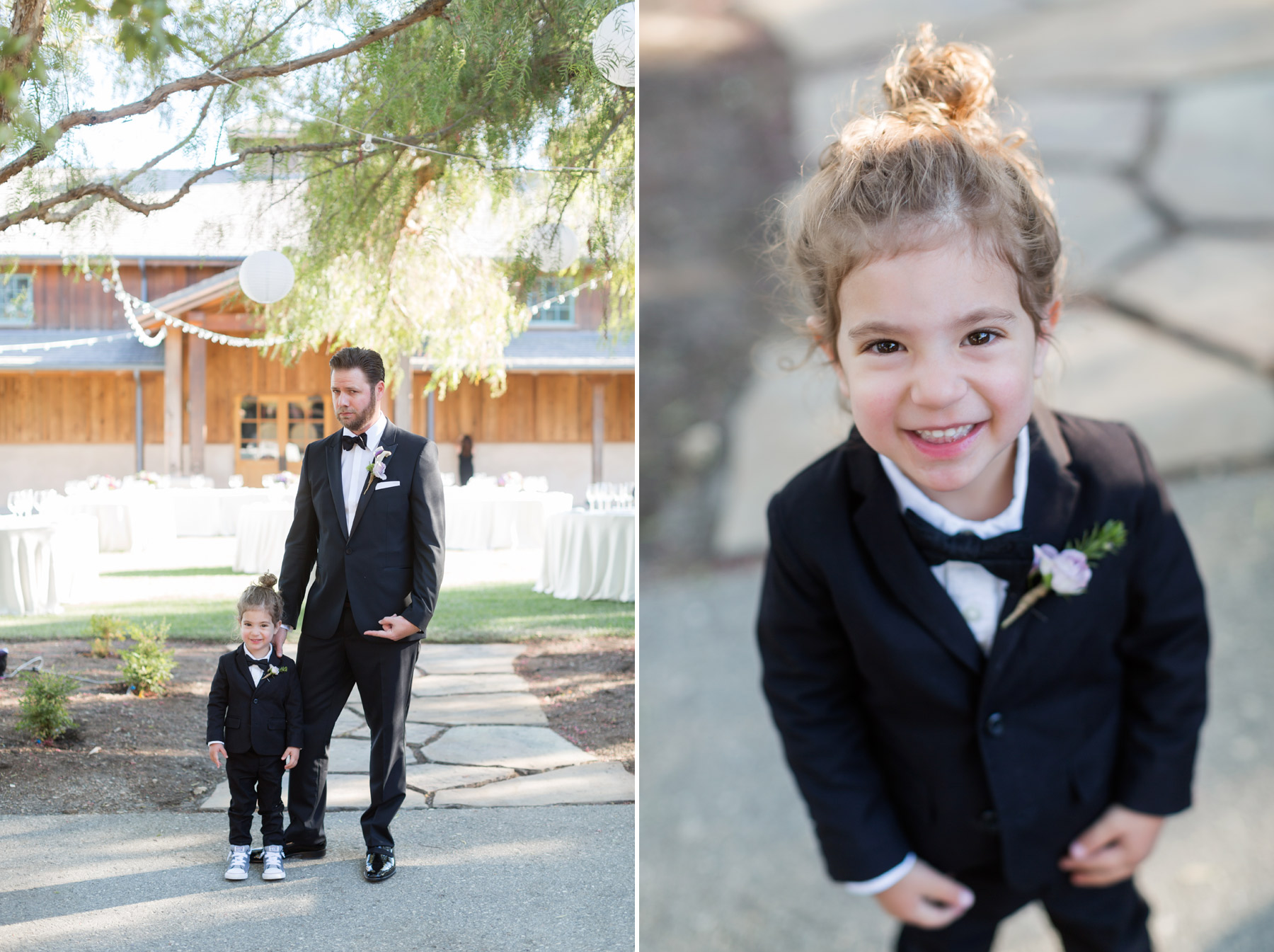 ringbearer at roblar winery wedding