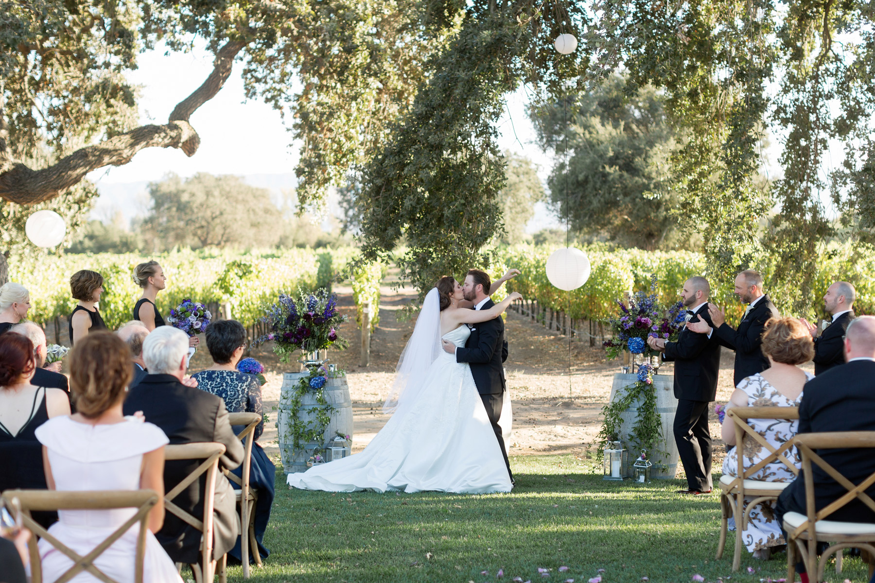 first kiss roblar winery wedding