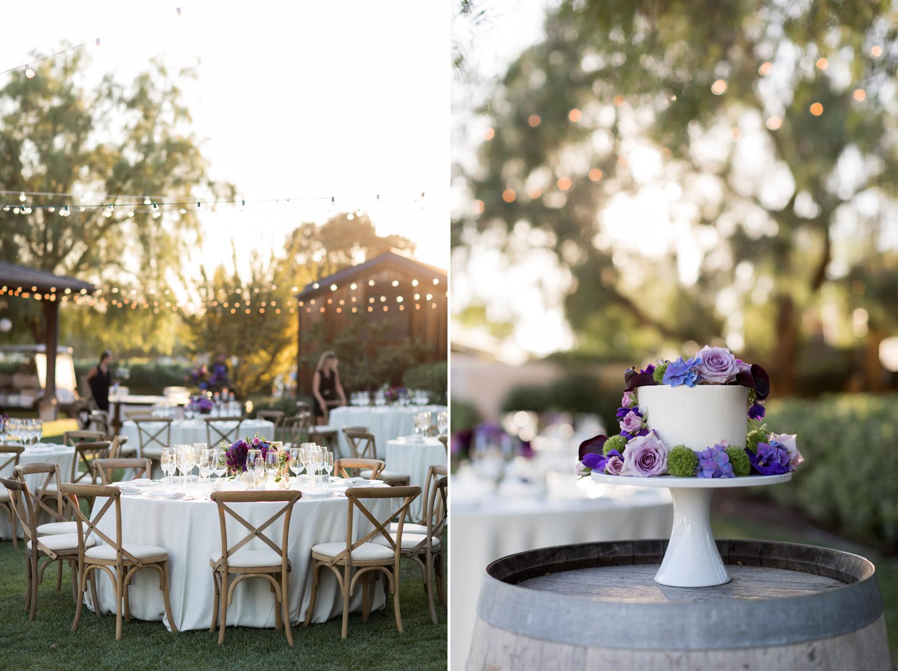 wedding cake roblar winery wedding