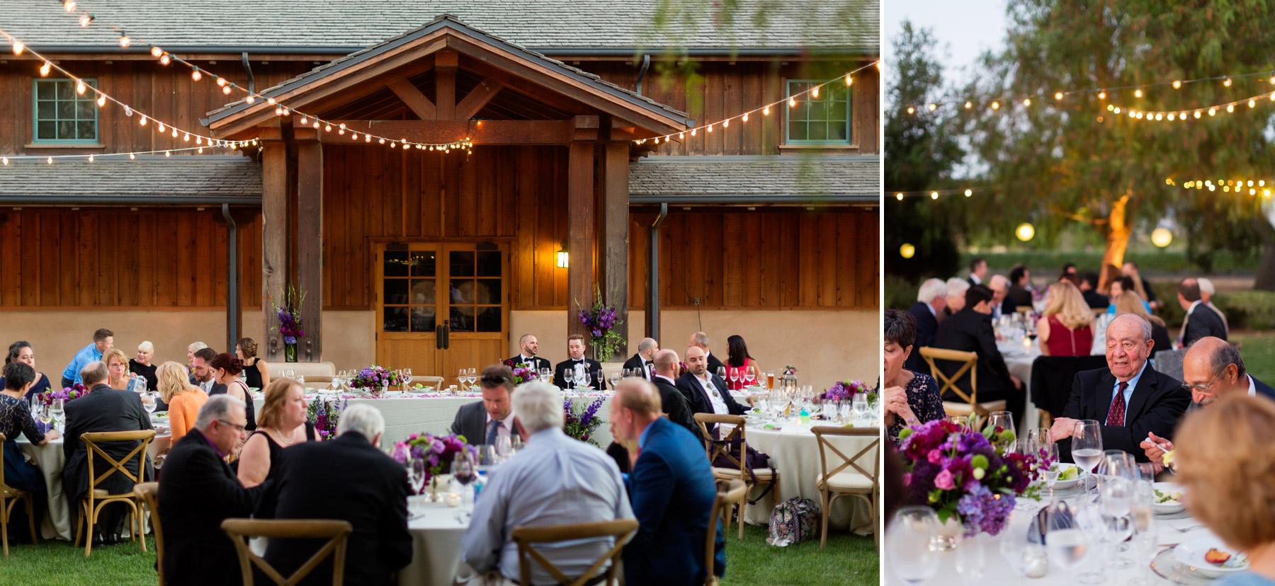 dinner wedding at roblar winery