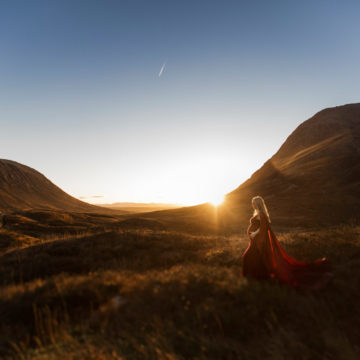 gravidfotografering i solljus