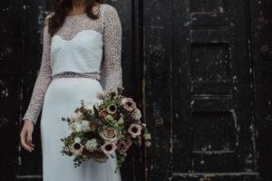 brudbukett i vinterfarger