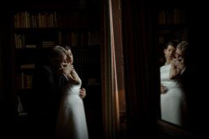 brudpar i biblioteket lenjonborgs slott