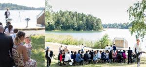 guests at wedding in marholmen sweden