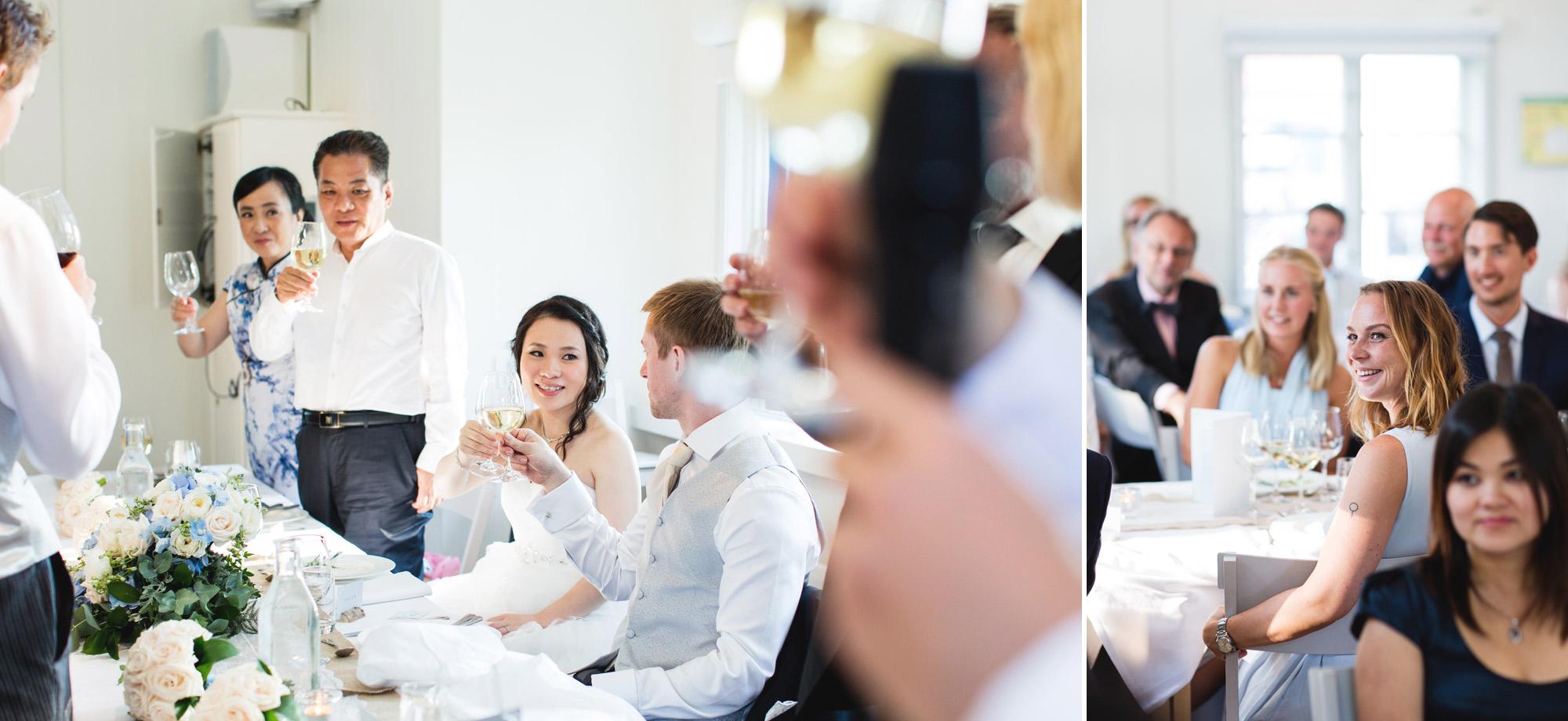 wedding toasts at marholmen sweden