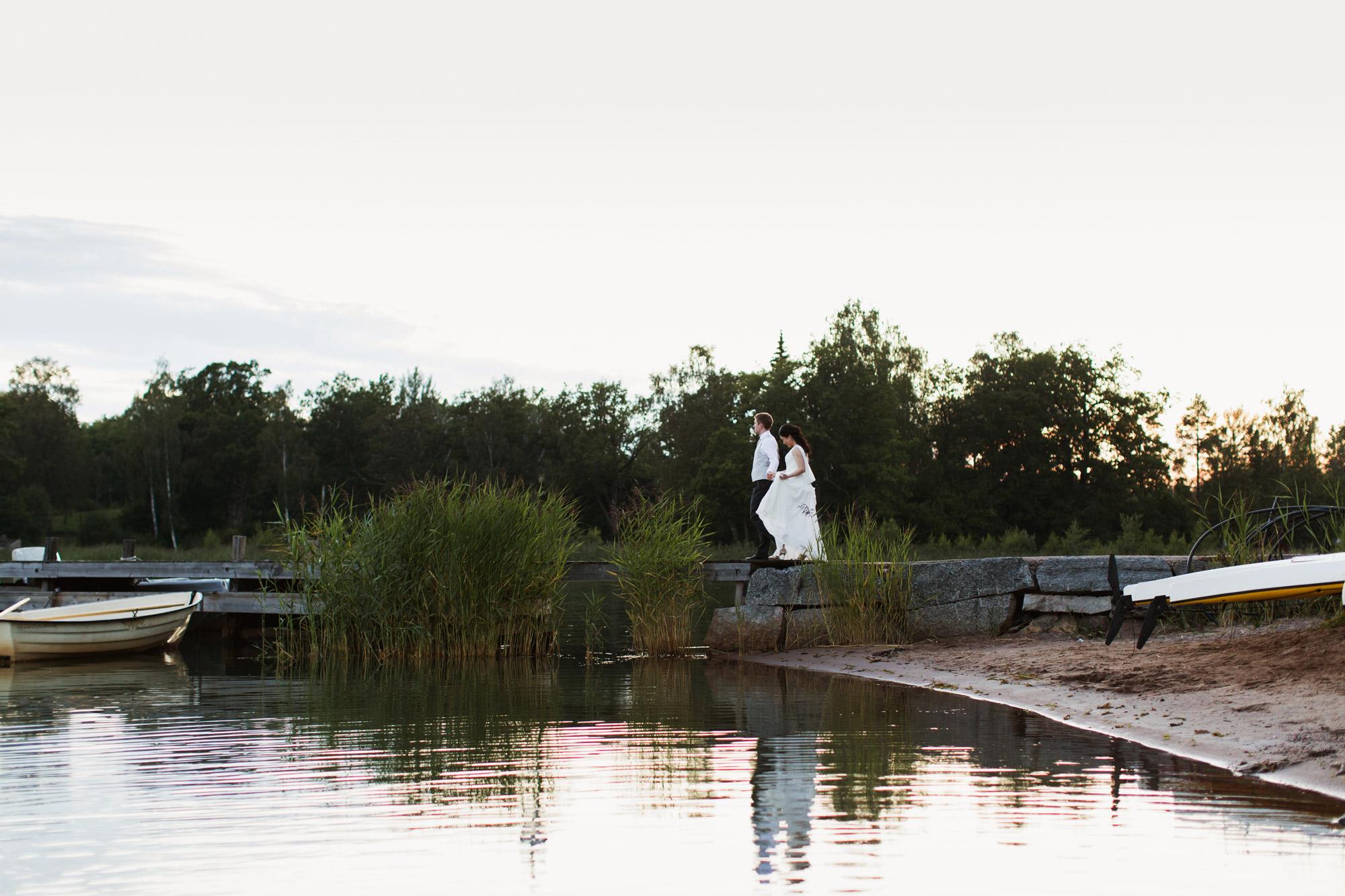 brud & brudgum i Marholmen