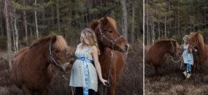 gravidfotografering med islandshastar
