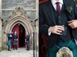 grooms party at traquair church innerleithen