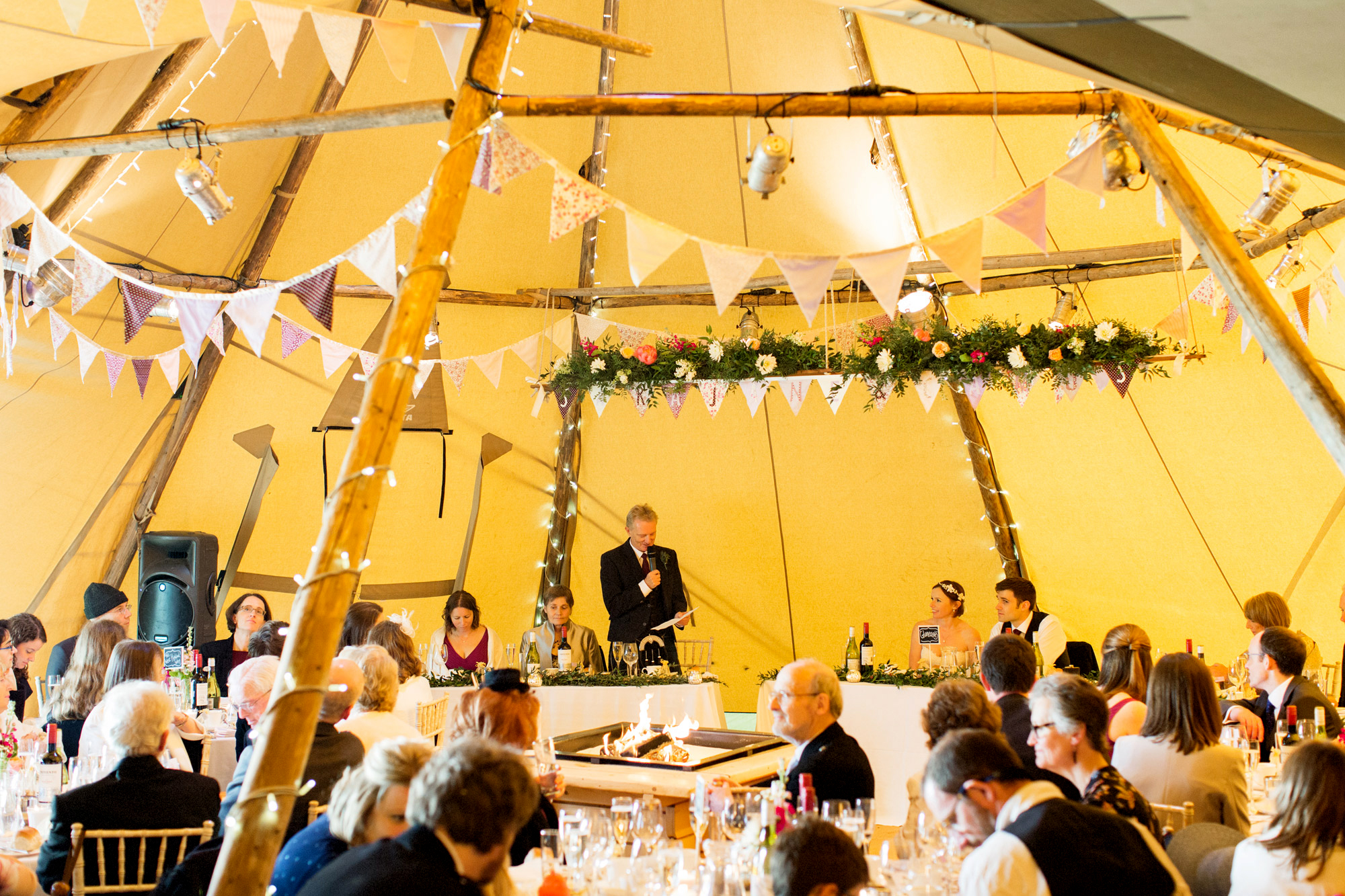 wedding speech in teepee