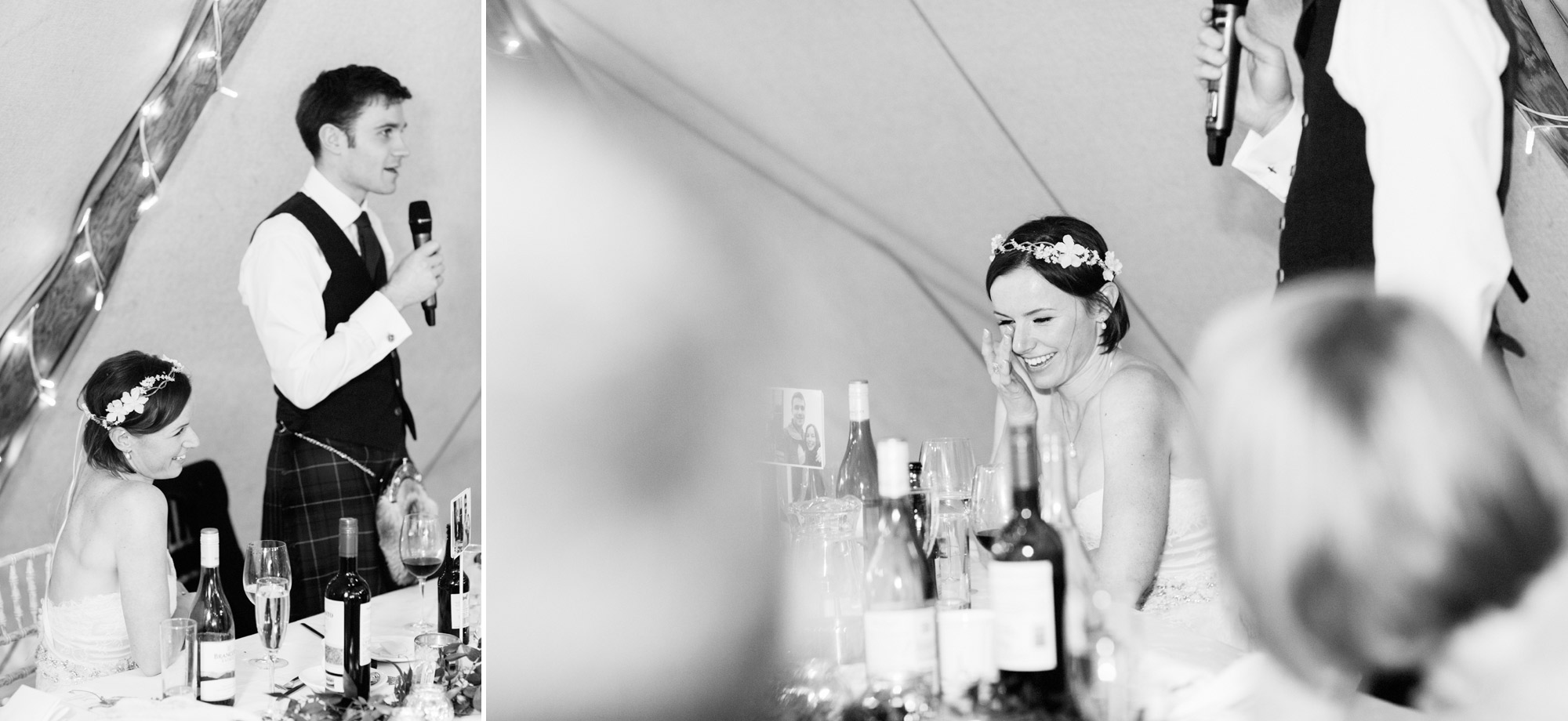 tears at wedding speech