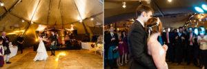 First dance teepee wedding innerleithen