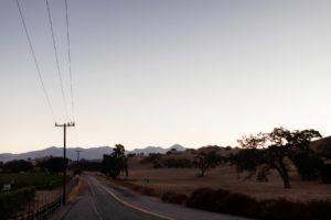 California morning road trip