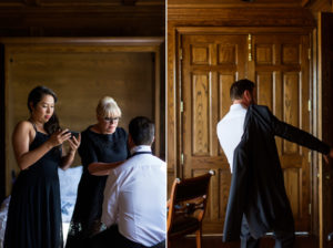 groom at wedding los olivos
