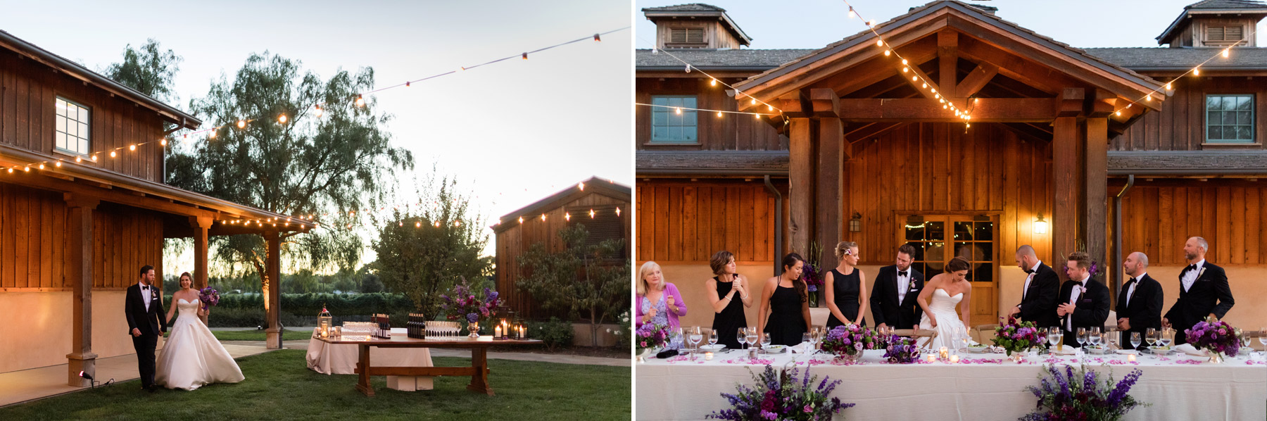 dinner party wedding at roblar winery