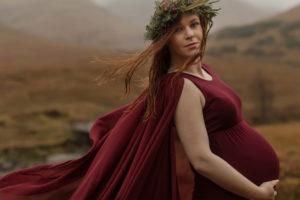 gravidbilder i dimma och blast