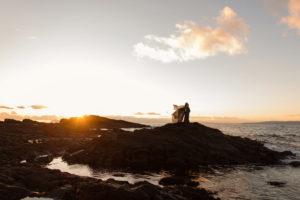 gravidfotografering vid havet