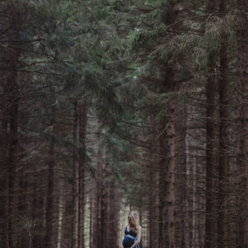pregnant woman in forrest