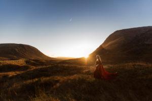 maternity shoot in golden light