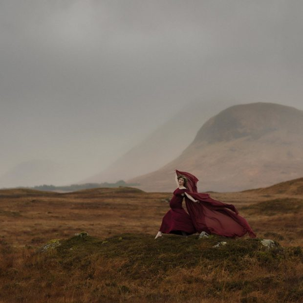Pregnancy shoot in Glencoe, Scottish highlands