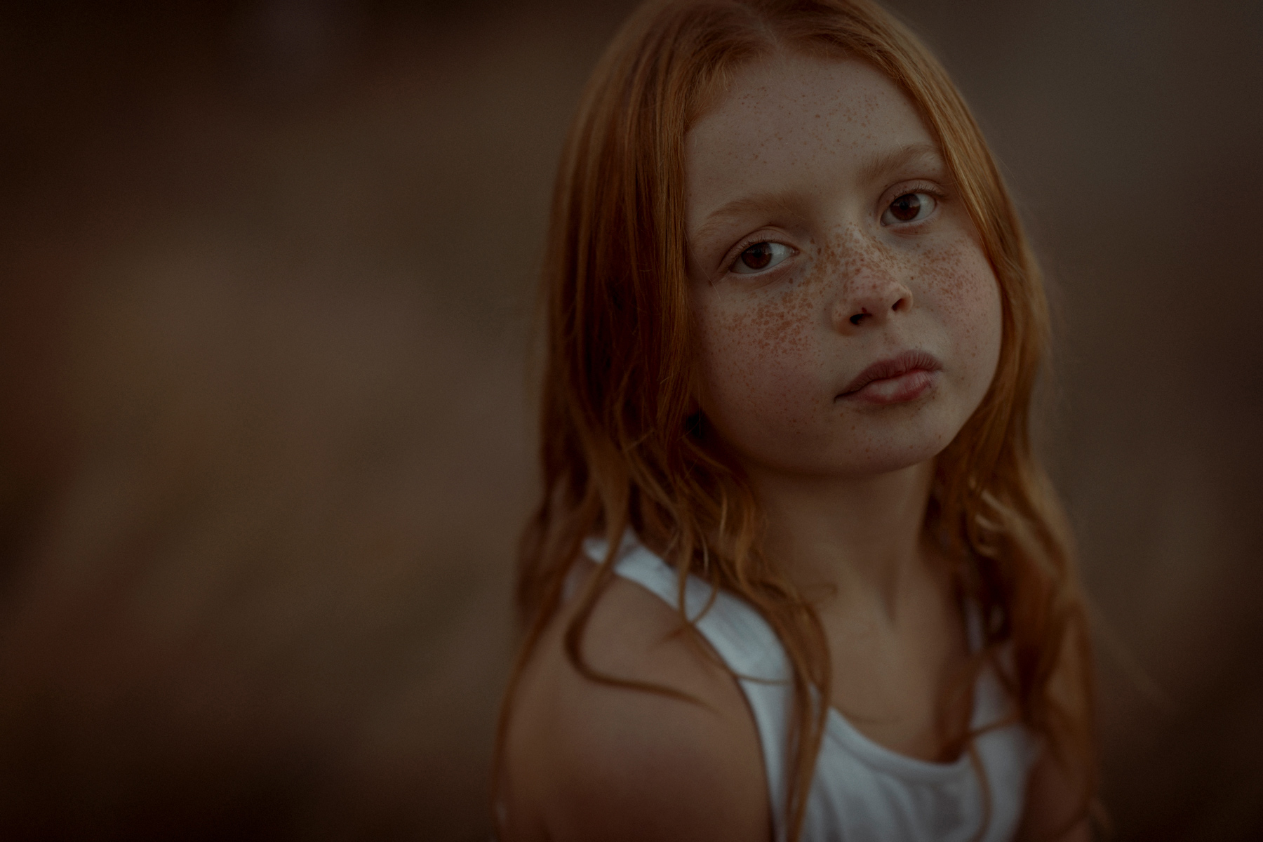freckled girl portrait