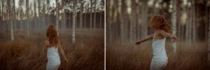 dansande flicka rott har bjorkskog