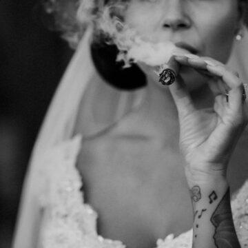 cigarrokande brud brollop